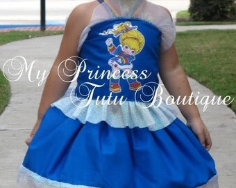 Rainbow Brite Dress, Halloween Tutu Dress, Rainbow Brite Costume, Girls Dress, Girls Halloween Tutu Dresses, Rainbow Brite Birthday Dress