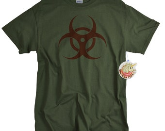 Biohazard t shirt for men and women science tshirt biology shirt science fiction toxic virus bio hazard