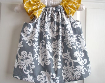 Baby clothes girl clothes kids childrens clothes girls dress grey and gold