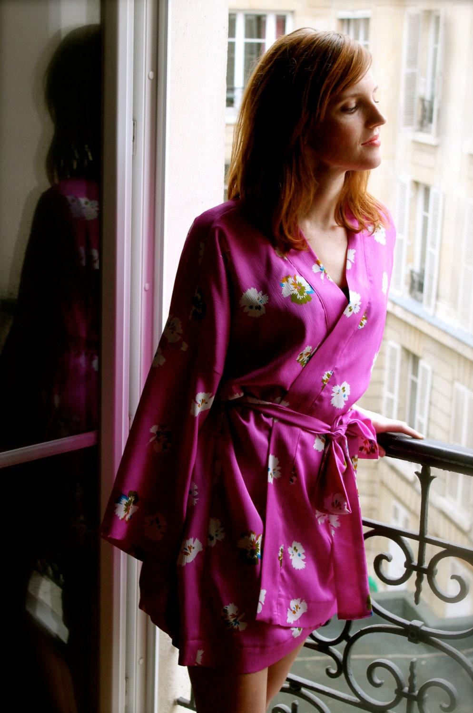 Kimono Robe Pattern French Seams Finishing Included Pdf