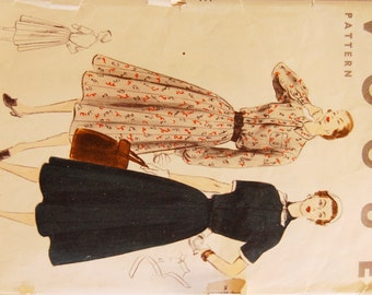 "Vintage 1950s Vogue Misses' Dress Pattern 7886 Size 18 (36"" Bust)"