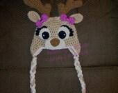 Deer or Elk Hat - Crochet Pattern 58 - US and UK Terms - Instant DOWNLOAD