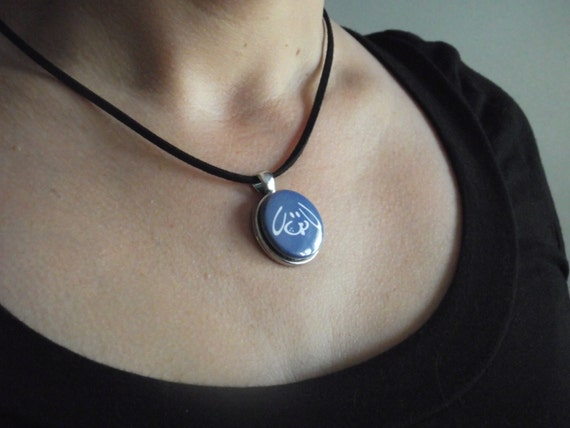 Items similar to interchangeable magnetic button necklace pendant items similar to interchangeable magnetic button necklace pendant completely compatible with pooka creations magnet buttons on etsy aloadofball Images