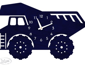 "The ""Navy Dump Truck"" designer wall mounted clock from LeLuni"