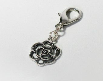Rose Pet Charm, Keychain, Zipper Pull