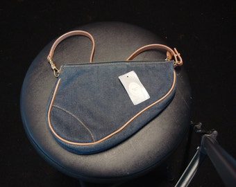 Vintage women denim like new  saddle bag from Dior