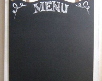 Blank Chalkboard Large Menu Rustic Sign Kitchen Chalk Board with Jute Twine Blackboard for Home Decor Chalkstyle Sign