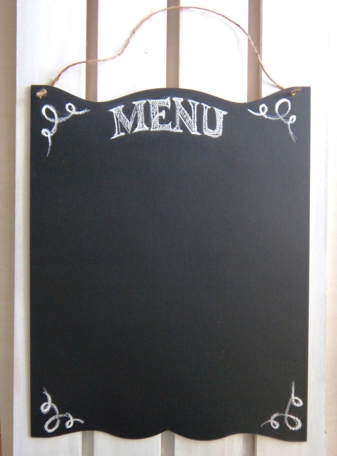 Blank Chalkboard Large Menu Rustic Sign Kitchen Chalk Board