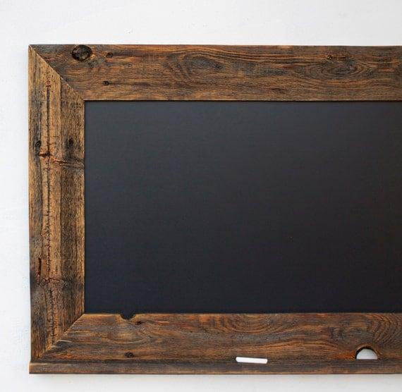 Chalkboard - Kitchen Chalkboard - Reclaimed Wood Framed with Chalk Ledge -  28x20 Kitchen Chalkboard -. ◅ - Chalkboard Kitchen Chalkboard Reclaimed Wood Framed With