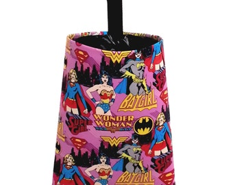 Car Trash Bag -  Wonder Woman Fuchsia