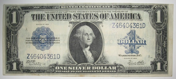 1923 HORSE BLANKET DOLLAR Bill in Excellent Condition