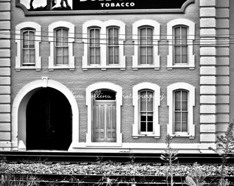 Bull Durham Tobacco B&W- Durham, North Carolina mulitple Sizes Available-Fine Art Photography-Gift,Urban