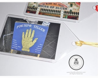 Fortune Teller Bookmark - New Orleans Photo Tag –  Palm Reader Sign - Fortune Teller Sign - French Quarter Photo