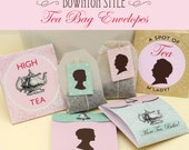 Printable Downton Style Tea Bag Envelopes Instant Download