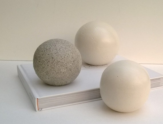 Items similar to decorative spheres set of three one