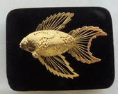 Beta Fish Brooch - Angel Fish - Goldfish - Brooch - Nautical Jewelry