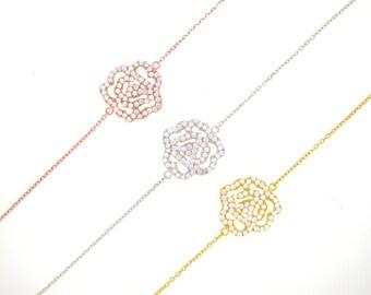Rose Flower Bracelet