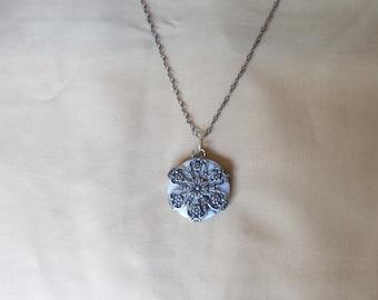 Jasper Filigree Wrapped Necklace