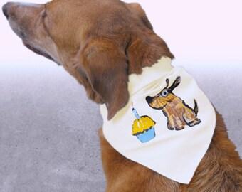 Dog Birthday Bandana, Birthday Dog & Cupcake Dog Birthday Outfit