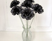 """30th 40th 50th 60th  Birthday Decoration Over the Hill Black  Birthday Personalized Roses   4"""" Diameter Roses with 16"""" Stem Set of 6"""