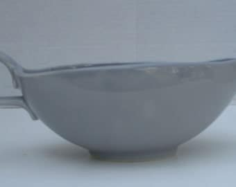 Homer Laughlin China Company Rhythm Shape - Gray Gravy Boat
