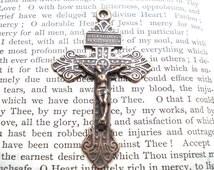"""Crucifix - Forgiven - 2 1/4""""- Crucifix - Bronze - Vintage Replica - Made in the USA  (C94-775)"""