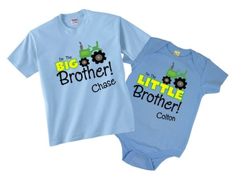 I'm The Big Brother I'm the Little Brother T shirts with Tractor Tees