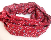 Red Cotton Scarf Women Infinity Scarf Cowl Scarf Shawl Scarf Circle Scarves Womens Fashion Accessories Valentines Day Gifts For Her
