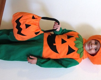 Infant/Toddler Halloween  Pumpkin Children's Costume    1-2T  3-4T