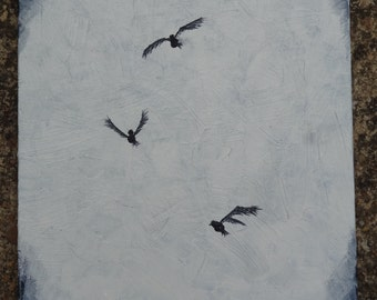 Original Acrylic Bird Painting 8 X 10