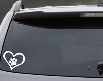 Paw Print in Heart