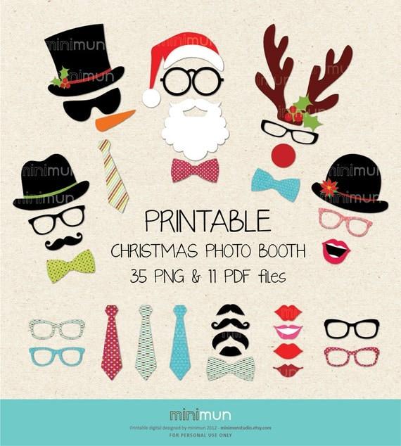 Items similar to 20% OFF Printable Christmas Photo Booth ...