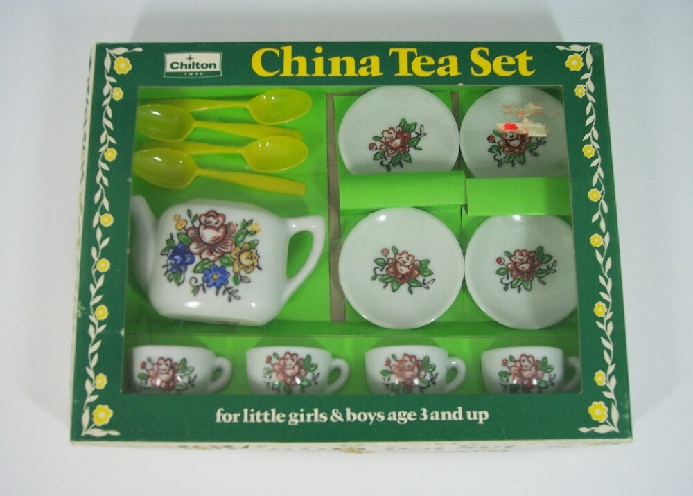 Toy Tea Sets For Boys : S miniature china tea set by chilton toys pc teapot