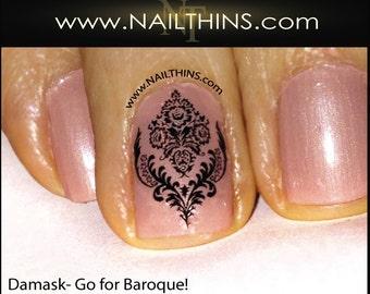 Damask Nail Decal Baroque Nail Art Nail