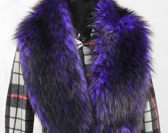 Black Tip Purple Wolverine Fake Fur Scarf Wedding Shawl New Fashion Bridesmaid Scarf Bridal Outfits