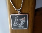 Dragon Necklace/ silver dragon/ fine art dragon/ dragon charm/ dragon pendant/ necklace for men/ silver necklace/unisex necklace/jason oliva