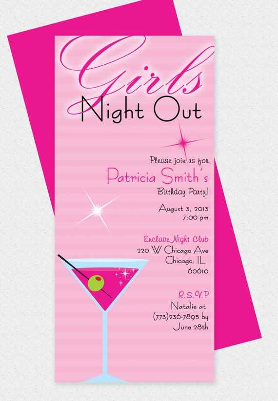 Girls Night Out Invita...