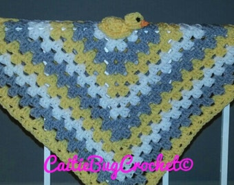 Crochet Duck Lovey Security Blanket
