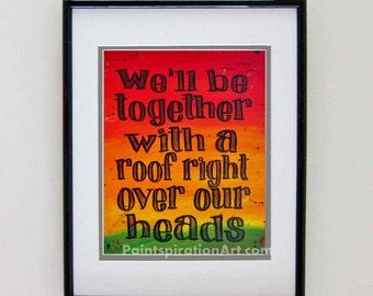 Song Lyrics Art Bob Marley Quotes Wall Art Rasta Painting   Red Yellow  Green Love Quote