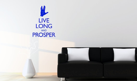 Spock Quotes Live Long And Prosper: Live Long And Prosper Spock Vulcan Quote Decal From Star