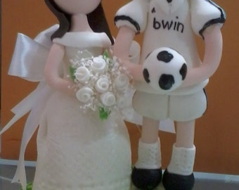 soccer player wedding cake toppers popular items for soccer cake topper on etsy 20273
