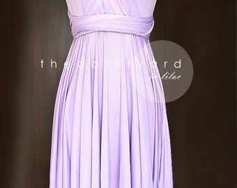 Lilac Bridesmaid Dress Convertible Infinity Multiway Wrap Wedding Maid Of Honor