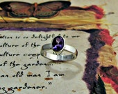 Amethyst Sterling Silver - February Birthstone - Made to Order, gemstone ring, stacking ring, engagement, non traditional
