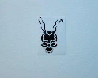 Donnie Darko Frank the Bunny Mask Decal