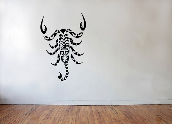 wall decal style scorpion chambre coucher ou par adnilcreations. Black Bedroom Furniture Sets. Home Design Ideas