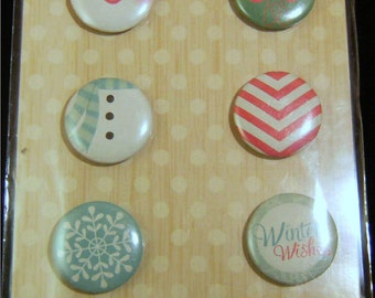 8 Adhesive Badges from Crate Papers Bundled Up Collection