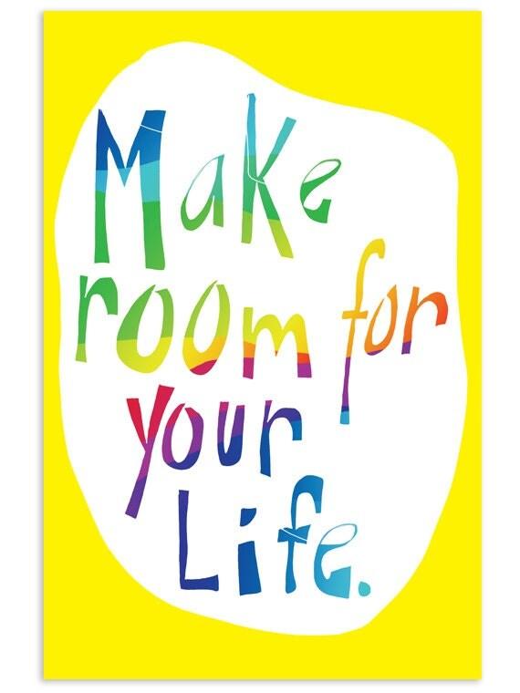 Make room for your life - Inspirational Postcard (Set of 5)
