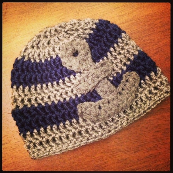 Crochet PATTERN Little Sailor Hat with by AcornTreeCreations