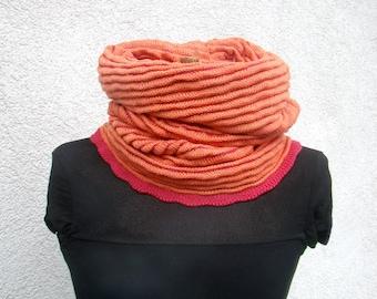 Infinity scarf - neck warmer -Tube scarf - loop scarf - pure merino
