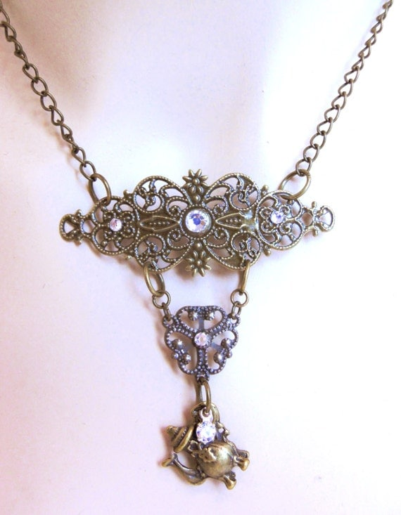 tea necklace mad hatter stea jewelry in